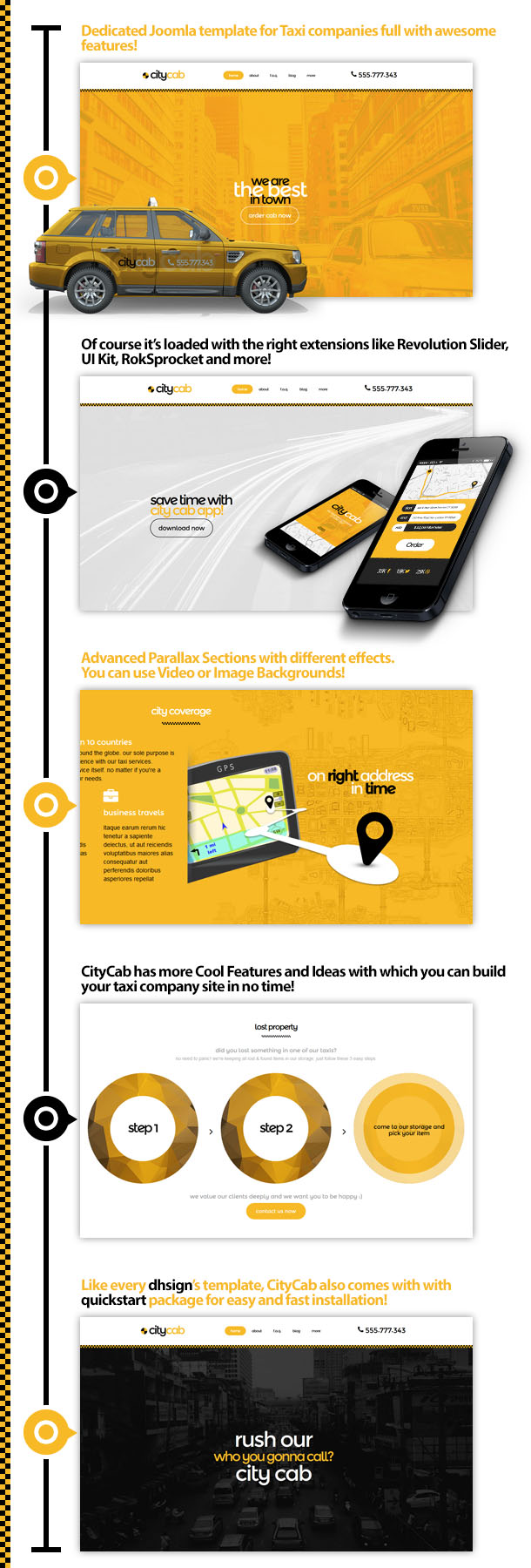 CityCab - Taxi Company Responsive Joomla Template