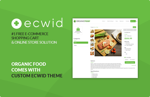 Organic Food - Kitchen, Farm, Corporate, Landing Page & E-commerce HTML Template