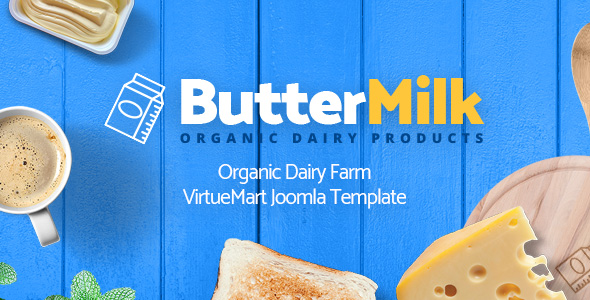 ButterMilk - Organic Dairy Farm VirtueMart Joomla Template