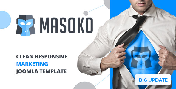 Masoko - Clean Responsive Marketing Joomla Theme