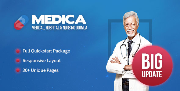 Medica - Clean, Responsive, Medical Joomla Theme