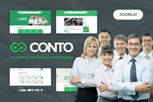 Conto - Accounting, Tax, Finance and Consulting Joomla Template