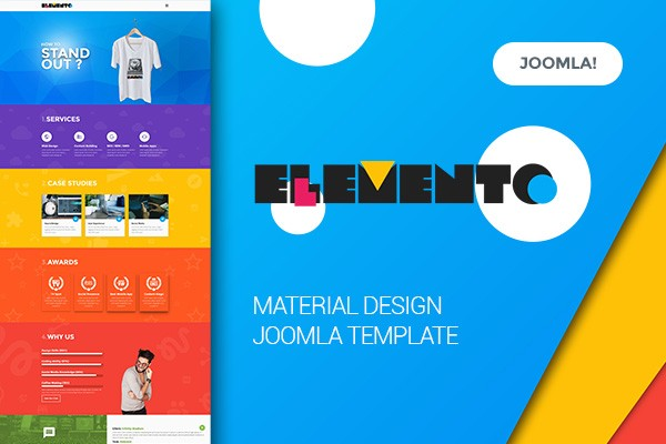 Elemento - Digital Agency, Material Design Joomla Template