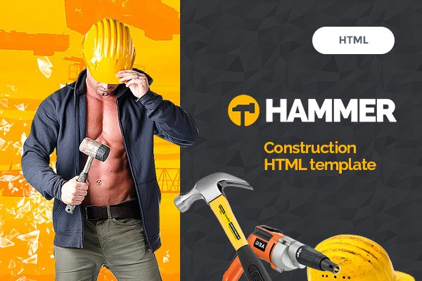 Hammer - Construction, Building Business, Renovation, Industry HTML Template