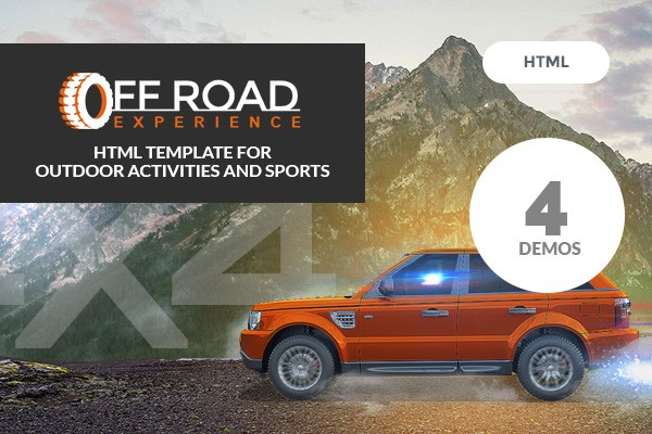 Off Road - Business HTML Template for Outdoor Activities and Sports